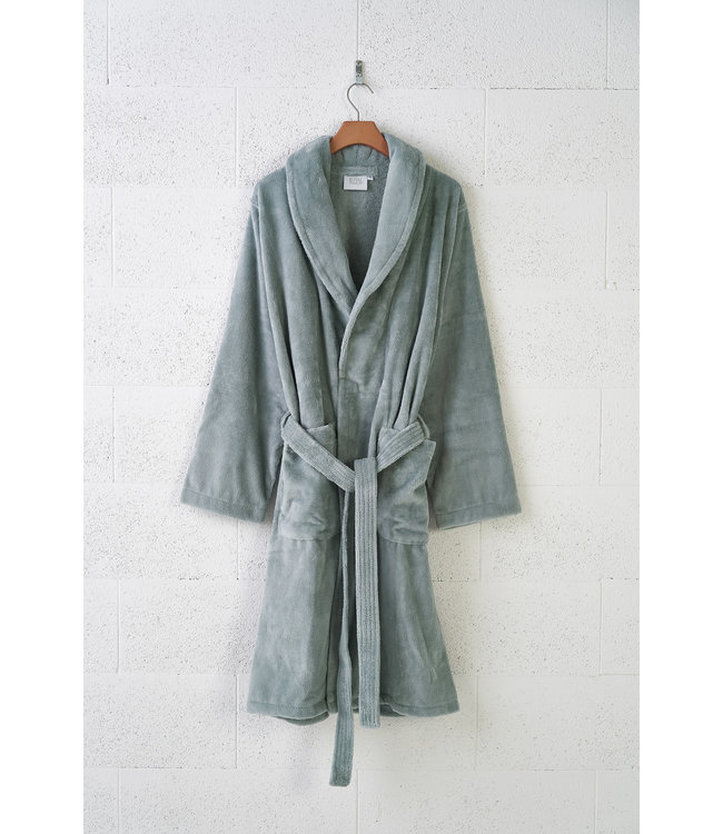 Unisex Bathrobe Teddy Sea Green