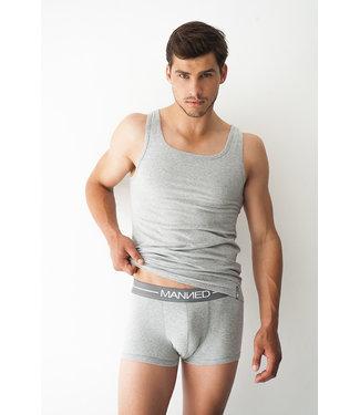 Manned Singlet Basic  Marl Grey