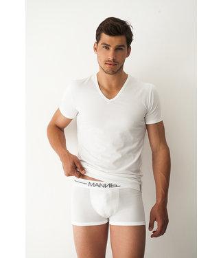 Manned Heren T-shirt Basic  White