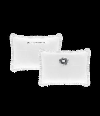 Anna + Nina Bed Pillow Case Set Blazing Sun White