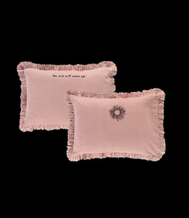 Anna + Nina Bed Pillow Case Set Setting Sun White/Terra