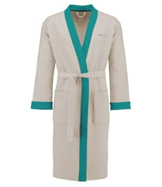 Rory Bathrobe Oatmeal/Aqua