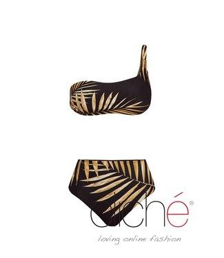 Cliché Beachwear Black Tropical Gold Bikini SET