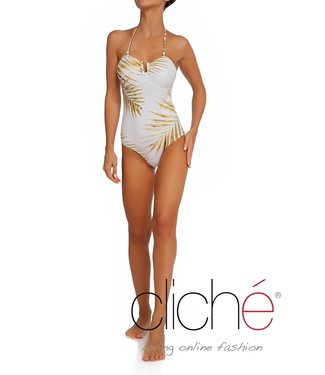 Cliché Beachwear Tropical Gold Onepiece