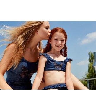 Twin-Set Girl's Bikiniset Denim Scuro