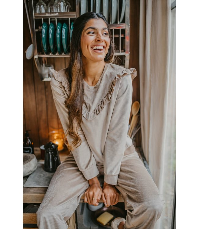 Alice et Maman Renee - Laura Pyjama Rib Velour Vison W19-4201-VR09