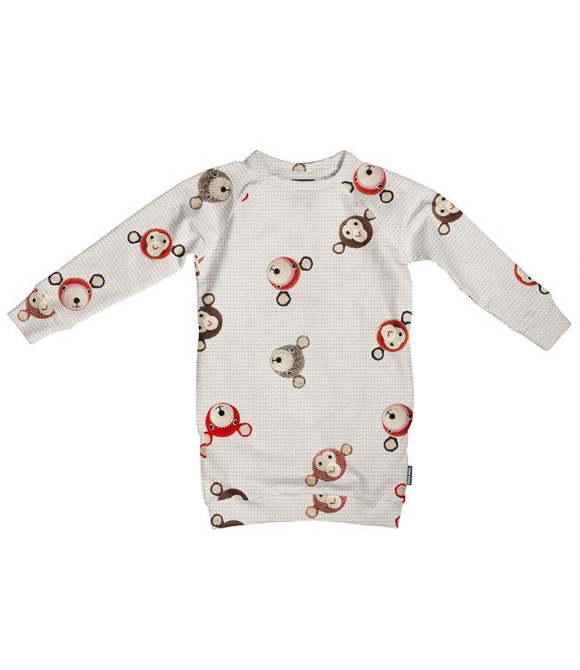 Snurk Teddy & Chimp Sweater Dress Kids