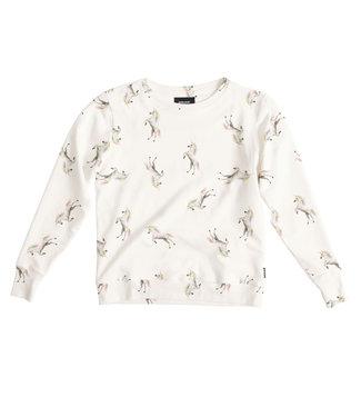 Snurk Unicorn White Sweater Woman