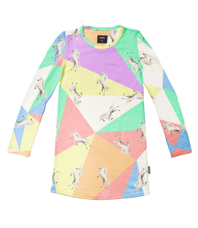 Snurk Unicorn Disco Long Sleeve Dress Kids