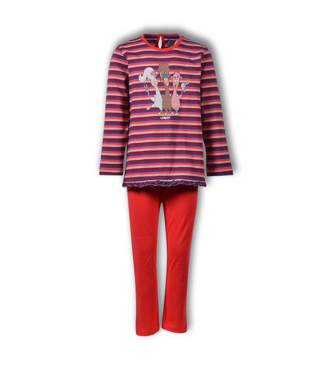 Woody 192-1-PLG-S/948 Meisjes-Dames pyjama