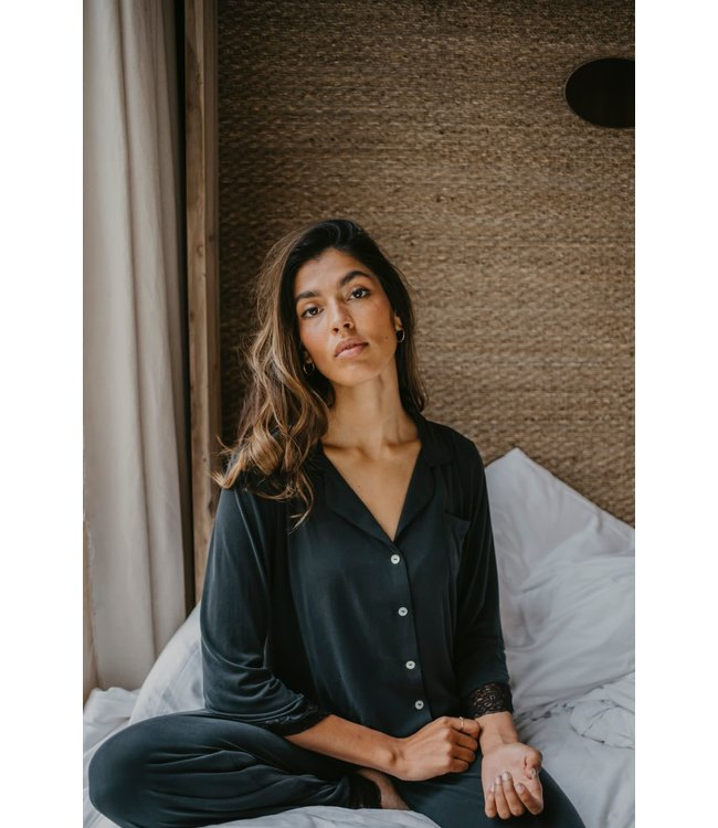 Alice et Maman Jasmine Pyjama Klassiek Modal Charcoal