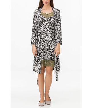 VAMP est.1983 Kimono Slipdress Set Leopard