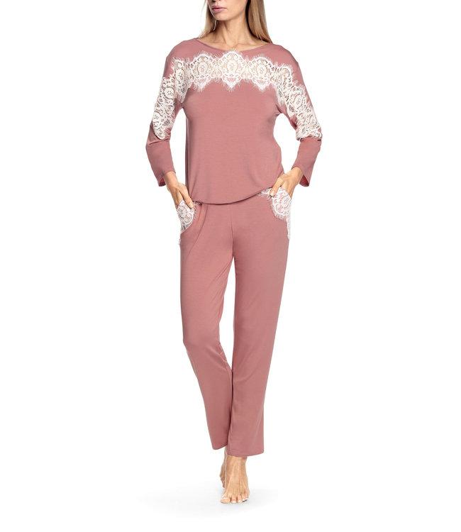 Coemi Antonia Pyjama Blush/Cream C502