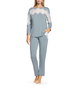 Coemi Antonia Pyjama Soft Blue Cream C502