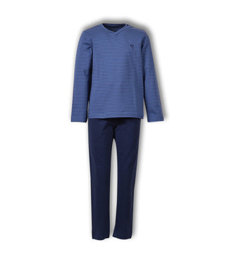 Woody Herenpyjama Blue Z-stripe 192-1-QVL-Z/912