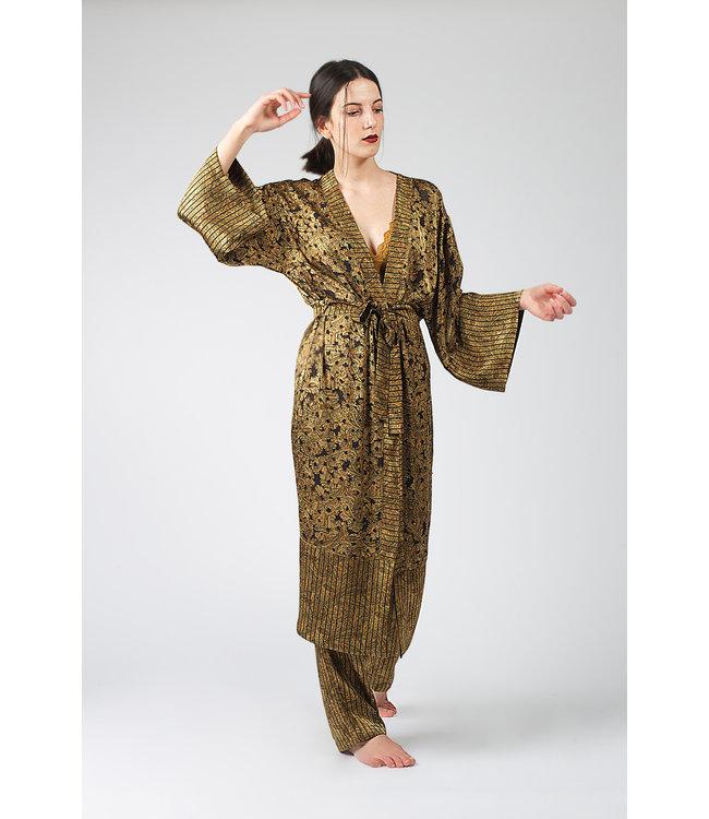 Hays Vegan Kimono & Pants Kadin Yesil
