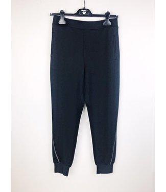 Twin-Set Lounge Pants Silver Stitch Nero