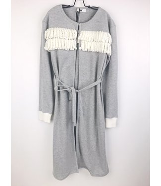 Twin-Set Cosy Robe Fringes Grigio