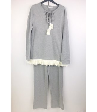 Twin-Set Pyjama Cosy Times Grigio