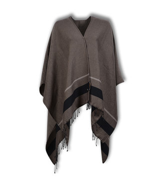 Lords & Lilies Dames Poncho Fungi Brown