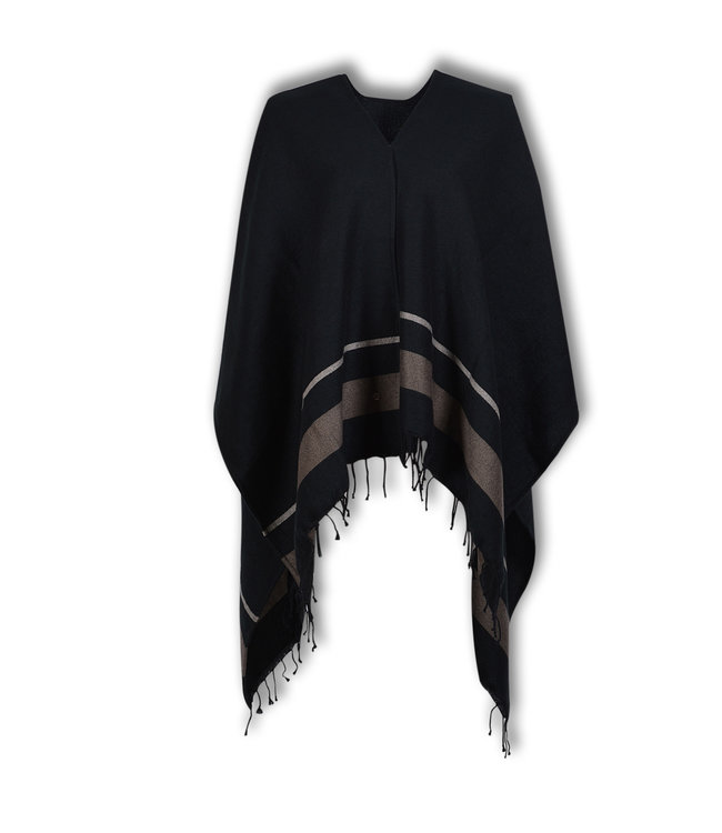 Lords & Lilies Dames Poncho Obsidian