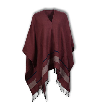 Lords & Lilies Dames Poncho Roan Rouge