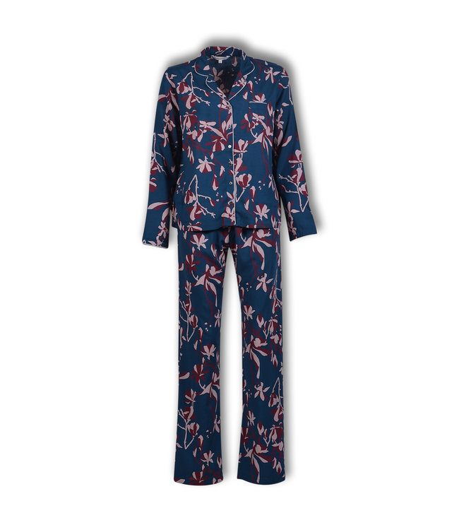 Lords & Lilies Dames Pyjama Legion Blue Woven Satin