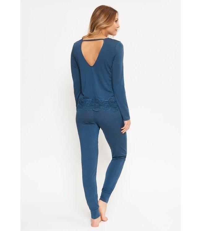 Lingadore Folk Pyjama Set China Blue