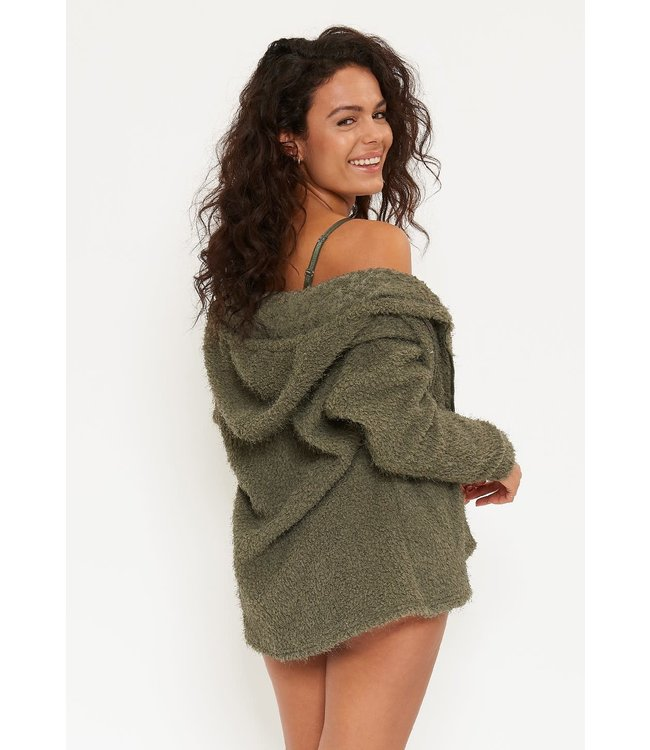 Lingadore Dust Hoodie Vest Olive