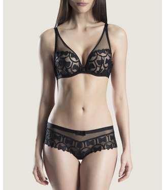 Aubade Paris Triangle Plunge BH The Bow Collection Soiree Noir