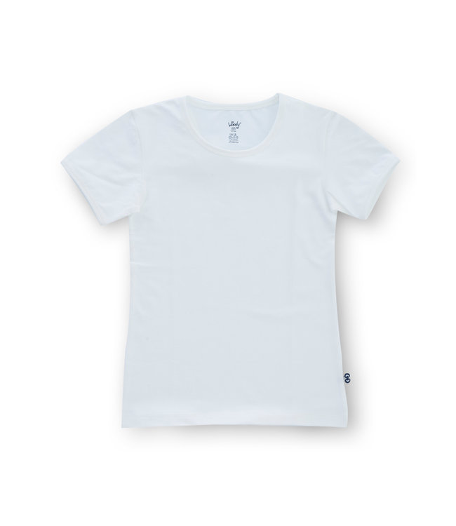 Woody Meisjes T-shirt Korte mouw Basic White