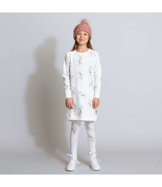 Snurk Unicorn White Sweater Dress Kids