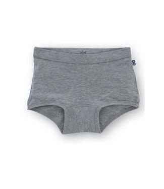 Woody Meisjesshort Basic Marl Grey