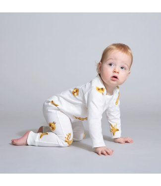Snurk Christmas Bling White Jumpsuit Babies