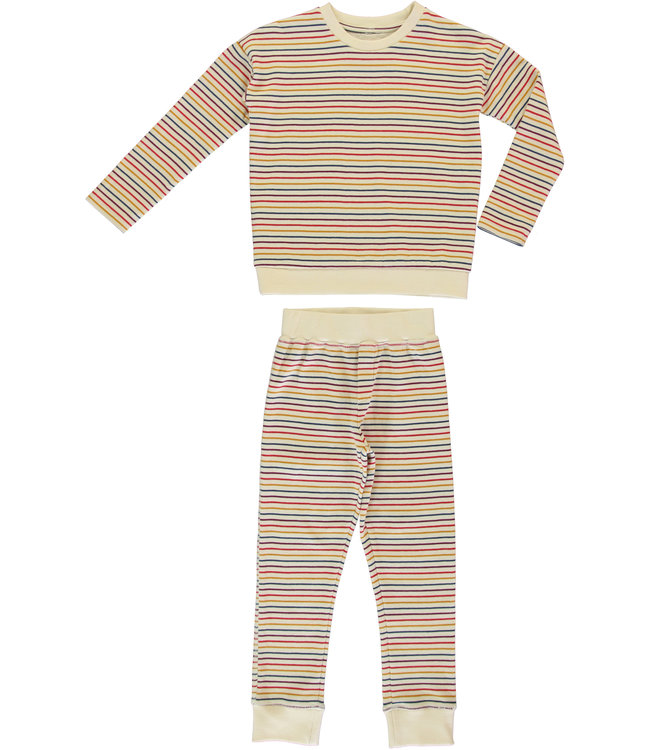 Dorélit Barbara+Ariel Kidspyjama  Jersey Multi Stripe