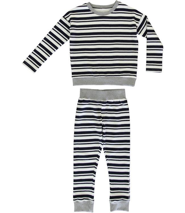 Dorélit Barbara+Ariel Kidspyjama  Jersey Navy Stripe