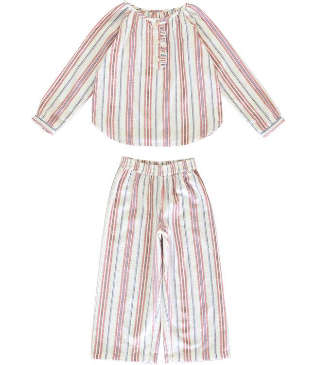 Dorélit Brigitte+Alkes Kidspyjama Stripe Multi Flanel