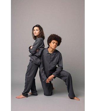 Woody Heren - Jongens pyjama, grijs geruit
