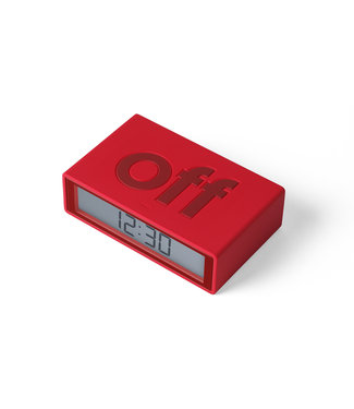 Lexon Flip Clock Rubber Red LR150R9