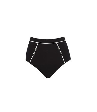 Jets Swimwear High Waist Bikini Pants Black/White J3657