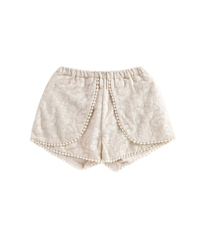 Louise Misha Short Velinda Cream Baroque Lace