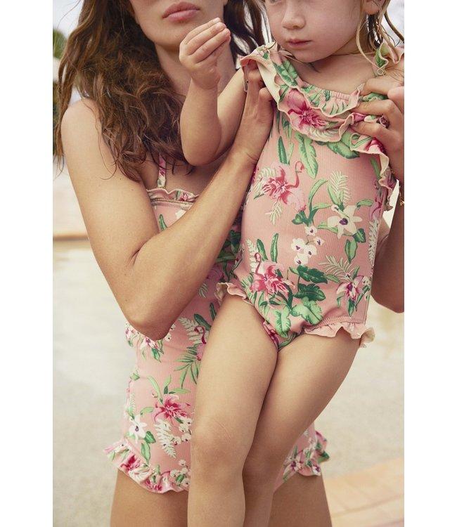 Louise Misha Bathing Suit Zacatecas Sienna Flamingo