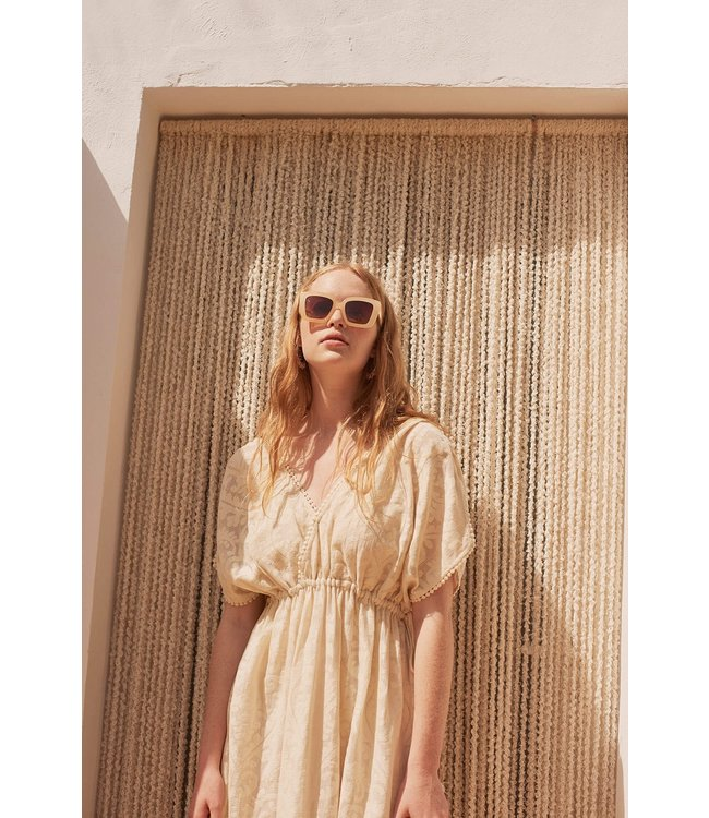 Louise Misha Dress Guadalara Cream Baroque Lace