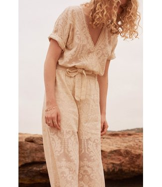Louise Misha Jumpsuit Tina Cream Baroque Lace
