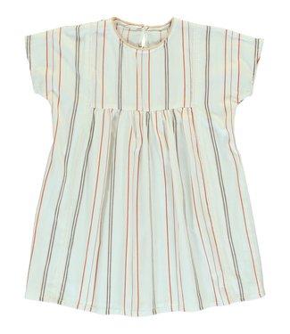 Dorélit Dress Girls Cursa Woven Stripe Chili