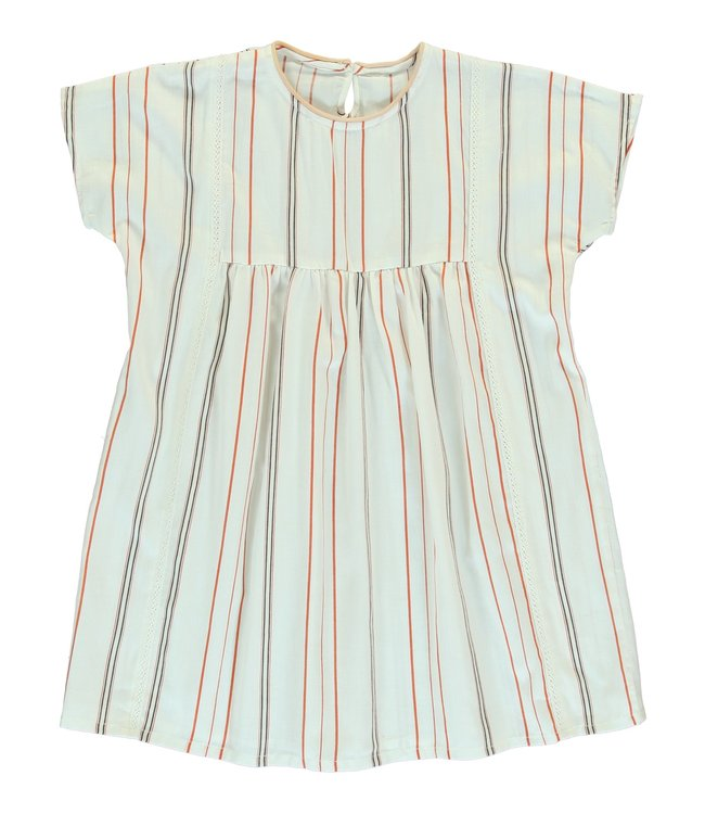 Dorélit Dress Girls Cursa Woven Stripe Chili