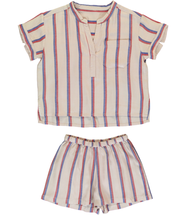 Dorélit Girls Set Carpo Shirt & Castor Woven Viscose