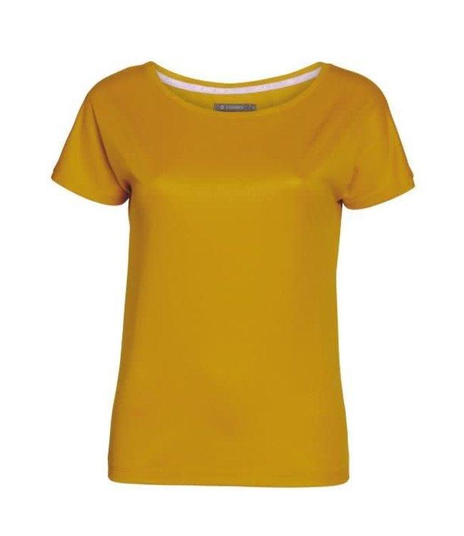 Essenza Ellen Uni Top Short Sleeve Yellow