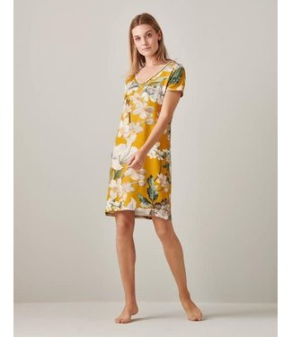 Essenza Emmylou Rosalee Nightdress Short Sleeve Yellow
