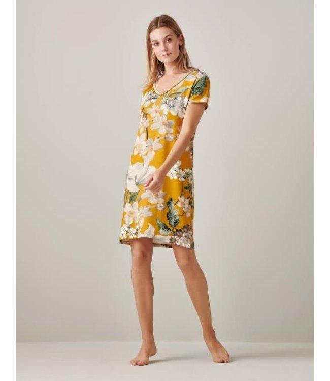 Essenza Emmylou Rosalee Nightdress Short Sleeve Yellow